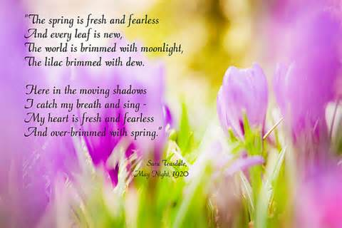 Image result for May with poems and flowers