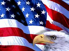 The eagle and flag