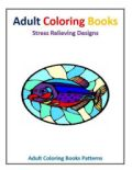 Stained glass images for adult coloring pursuits